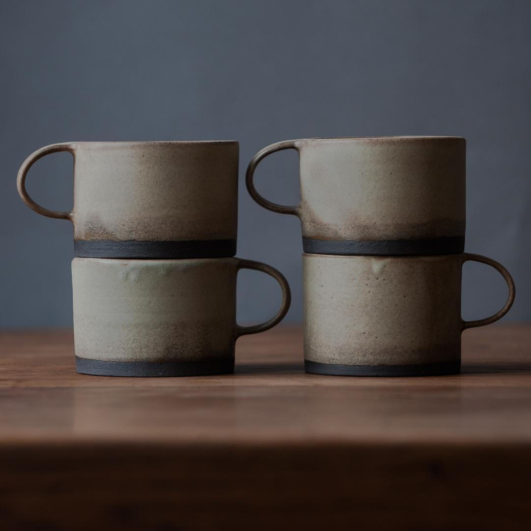 Birdman's Home Cups Ivory Charcoal