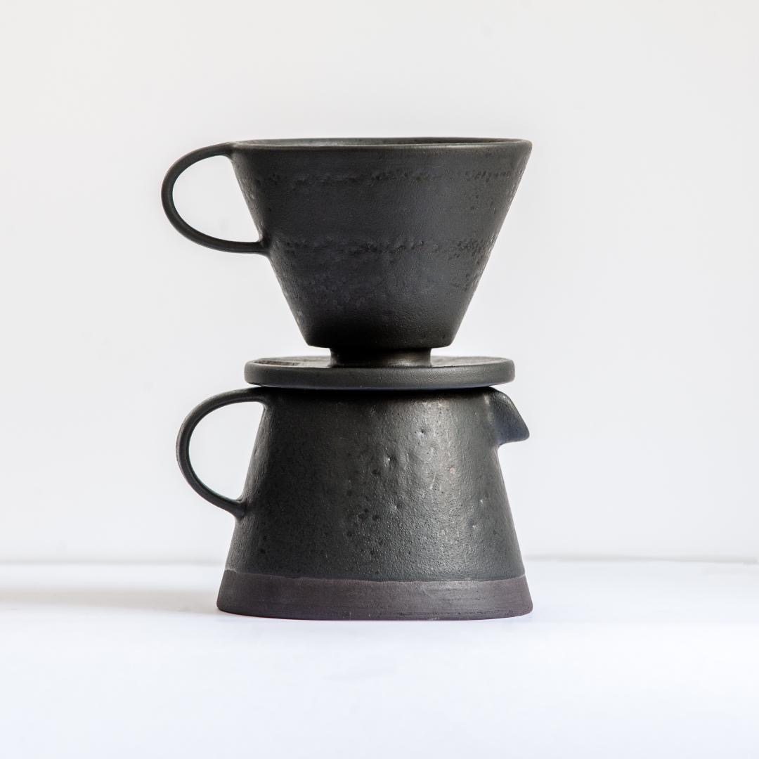 Birdman's Home Pour Over set black
