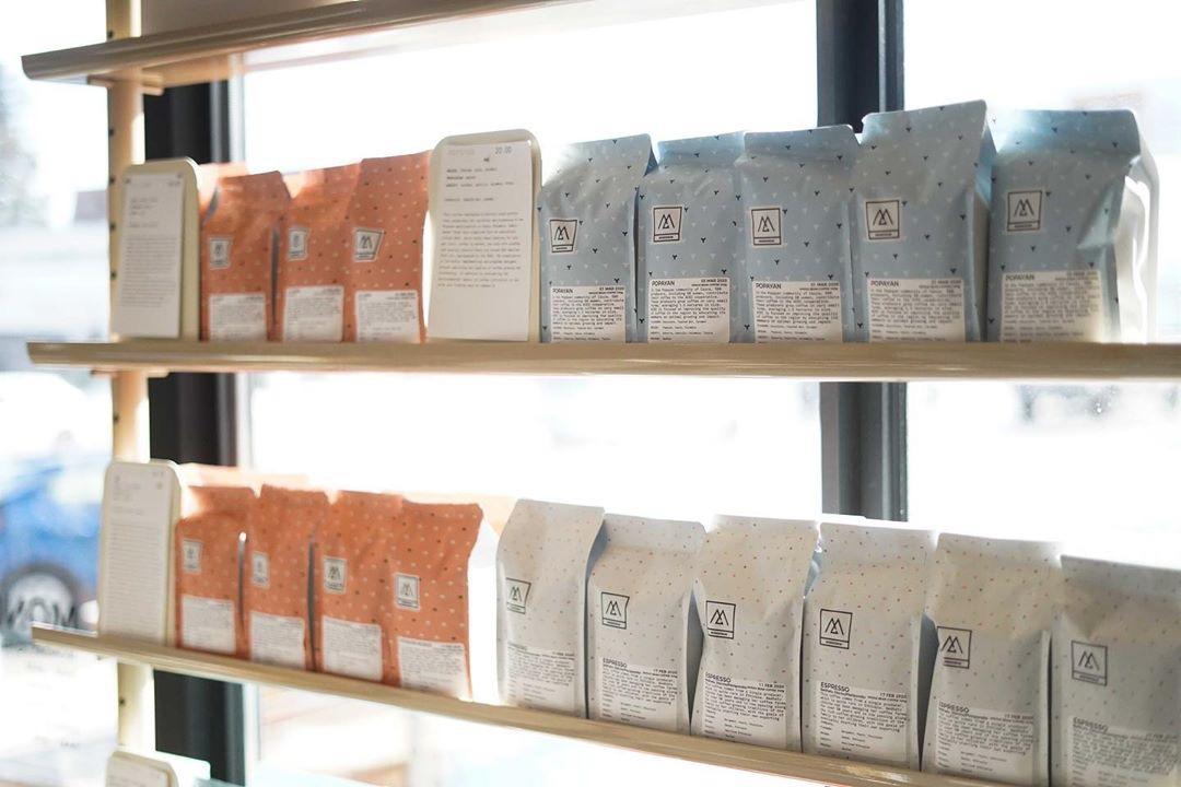 Monogram Coffee Retail Shelf
