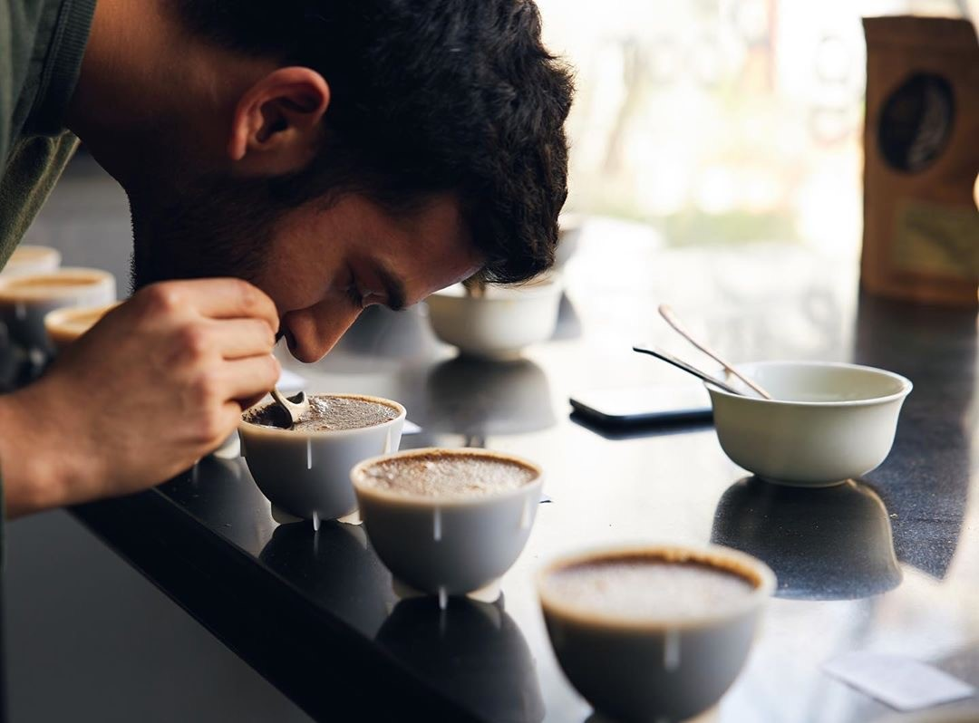coffee cupping at Blue Tokai Coffee